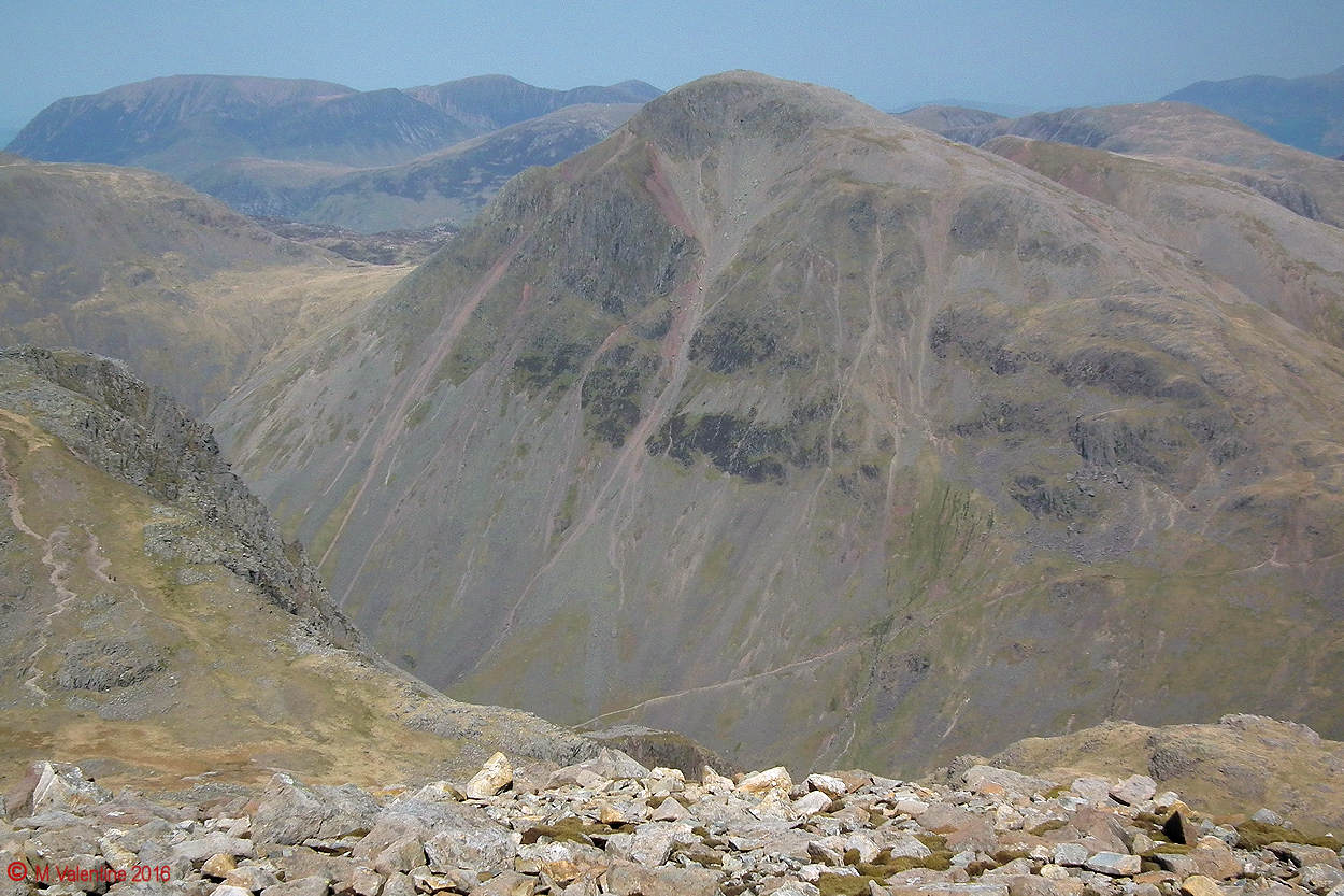 14 - Great Gable dominating the view from Scafell Pike summit slope.jpg