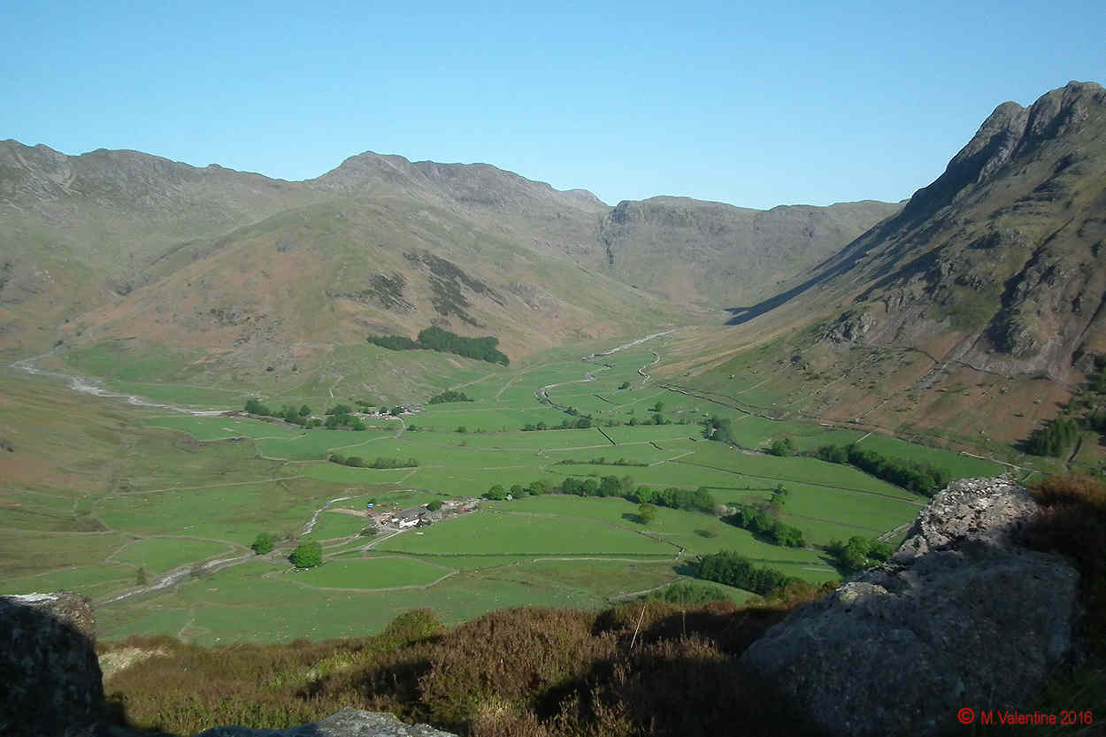 01 - Looking along The Band - Mickleden, to Bowfell and the Crinkles. (From part way up Side Pike)..jpg