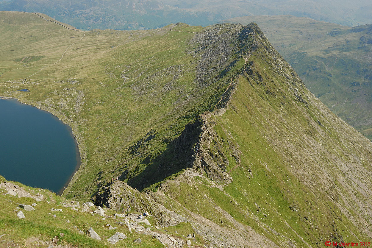 11 Looking down to Striding Edge from Helvellyn summit plateau.jpg